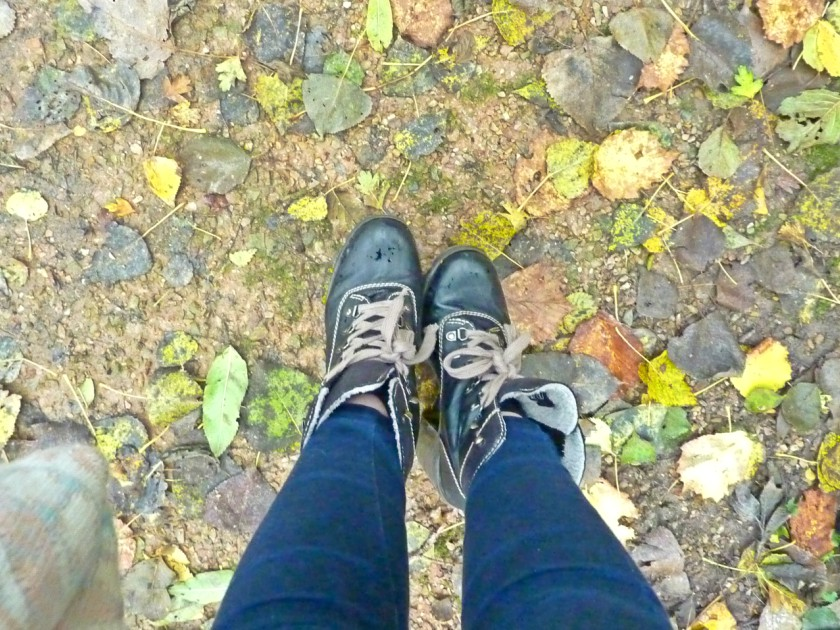 feet in leaves