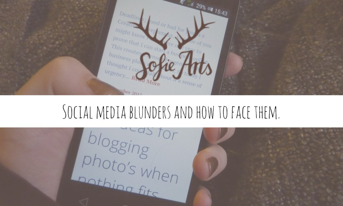 Ever made a mistake on social media that made you blush? Read all about my blunders and ho I fexed them and what i think is the best way to deal with these things!
