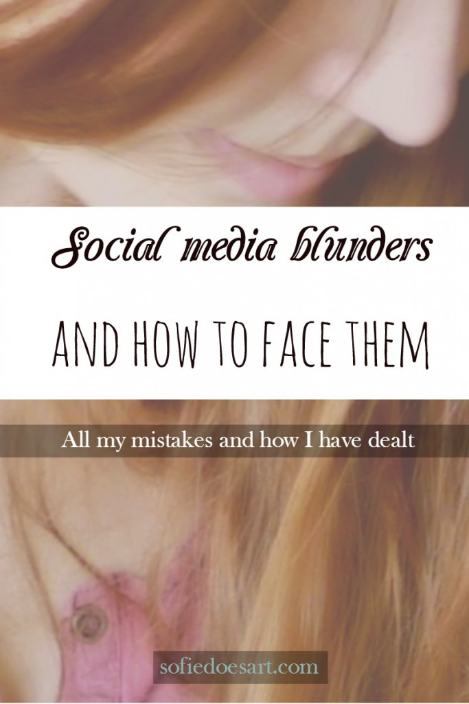 Social media blunders and how to face them. Everything on which mistakes I made and how I fixed them!
