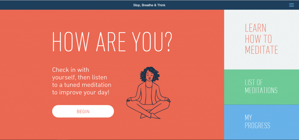 Stop, Breathe & Think site for meditation that makes me feel more productive.