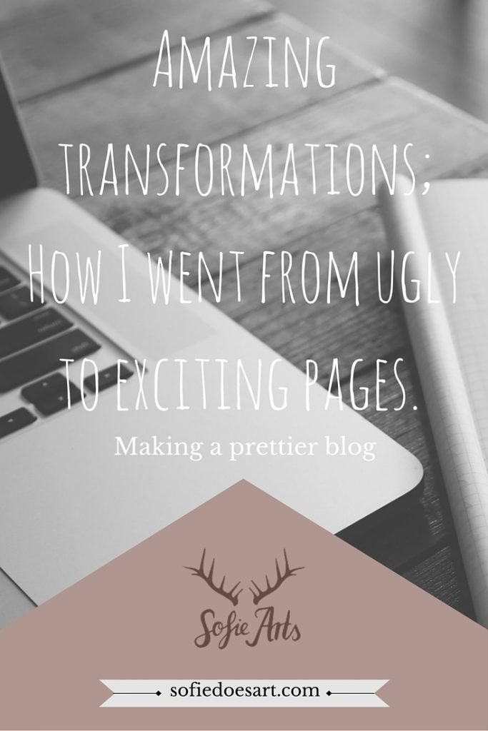 Amazing transformations; How I went from ugly to exciting pages. (3)