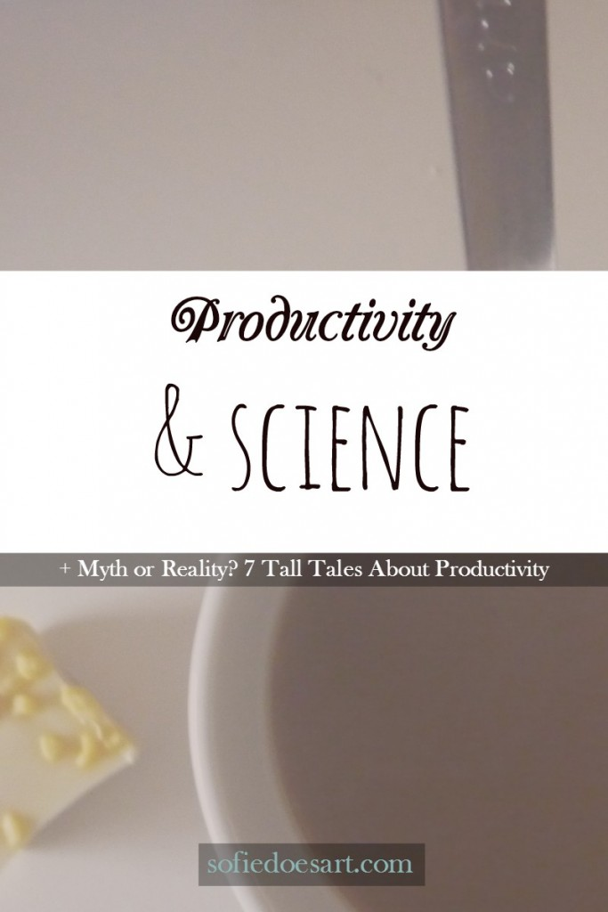 Productivity and science. Uncovering some myths and a talk on what productivity really means and how it is achieved. + info-graphic