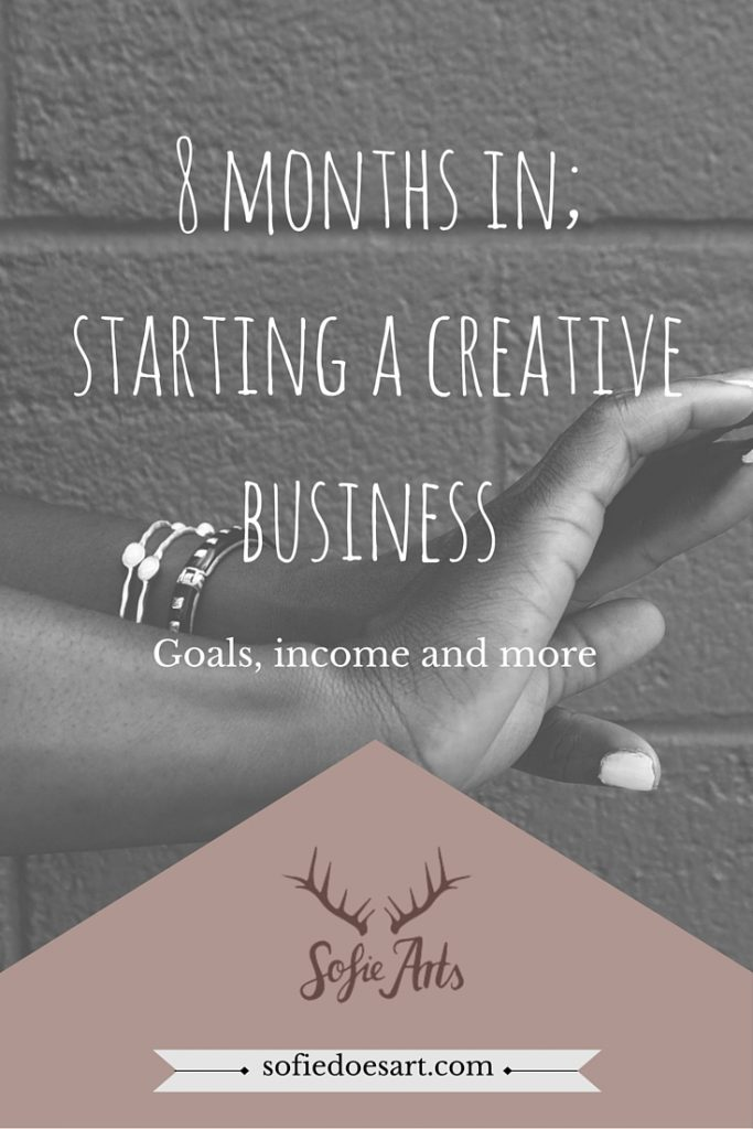 8 months in; starting a creative business. Goals, income and more. What I did in the 8Th month of business!