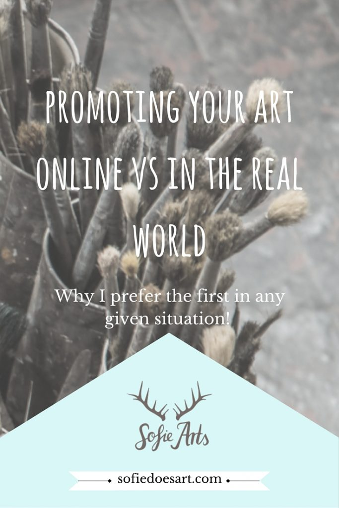 What are the best parts of online promoting yourself as an artist? Why I love online promotion more then real life promotion!