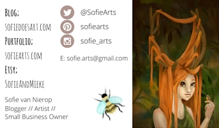 sofie arts business card