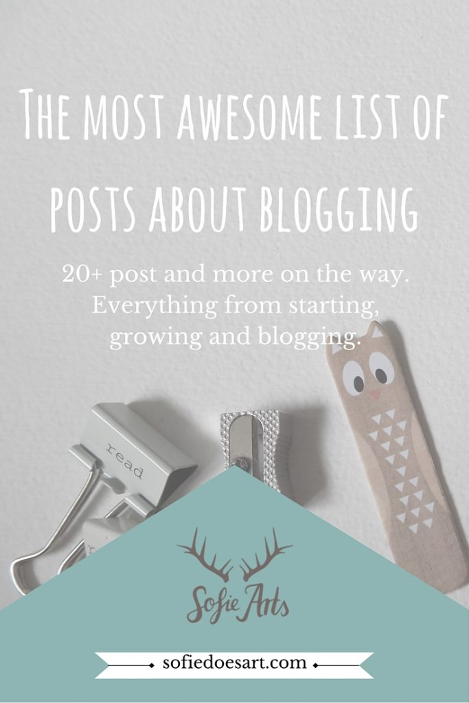 My favourite posts about starting & growing a blog! Feel free to suggest you own blog posts for this list in the comments!