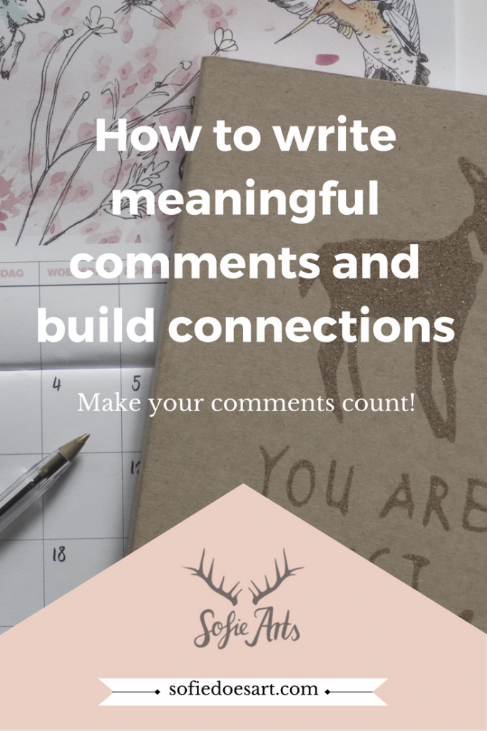 How to write meaningful comments that make you stand out and build real connections.